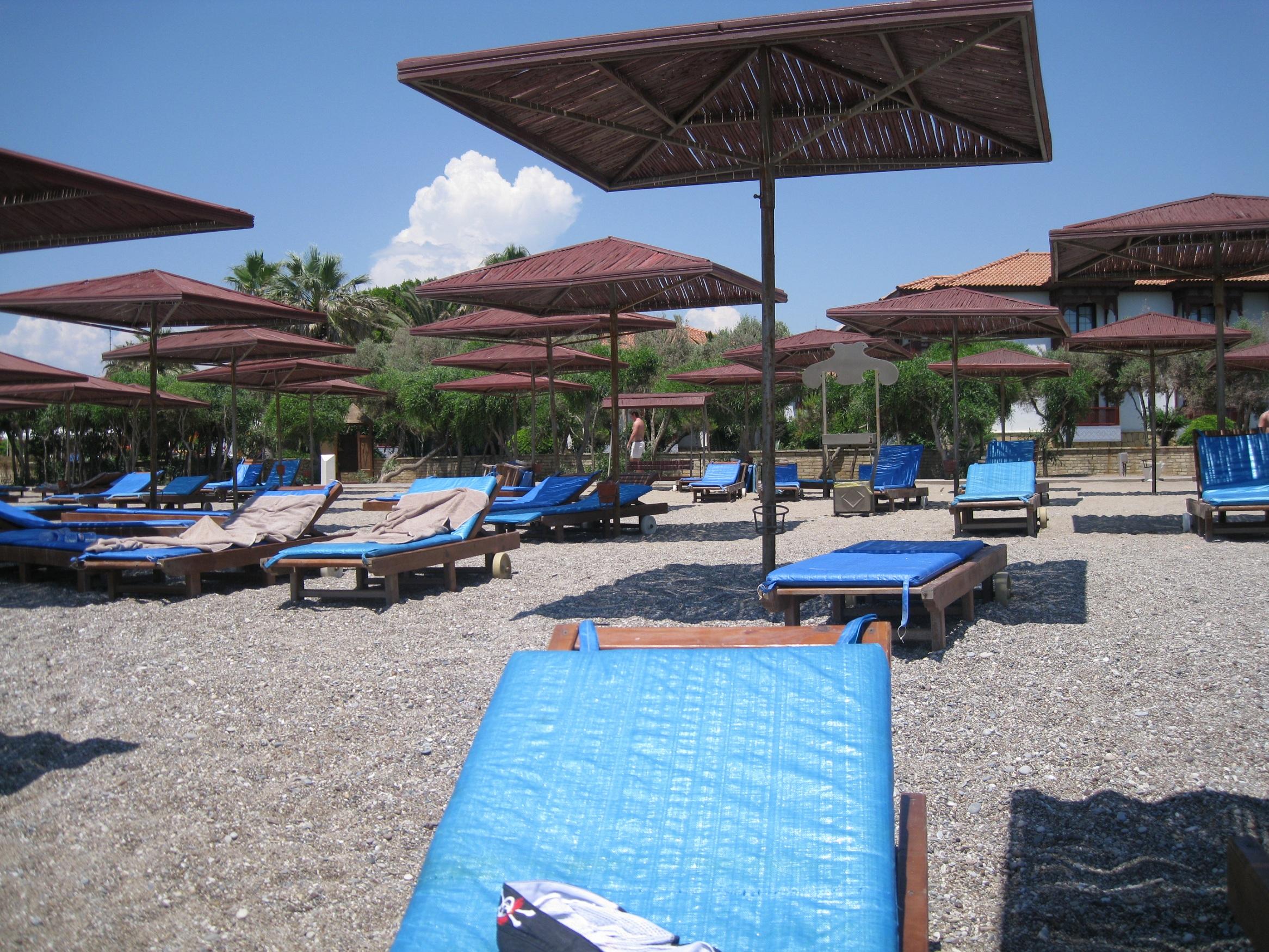 Свободные места на пляже