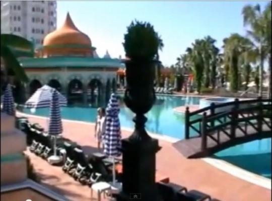 Бар в бассейне отеля Камелия