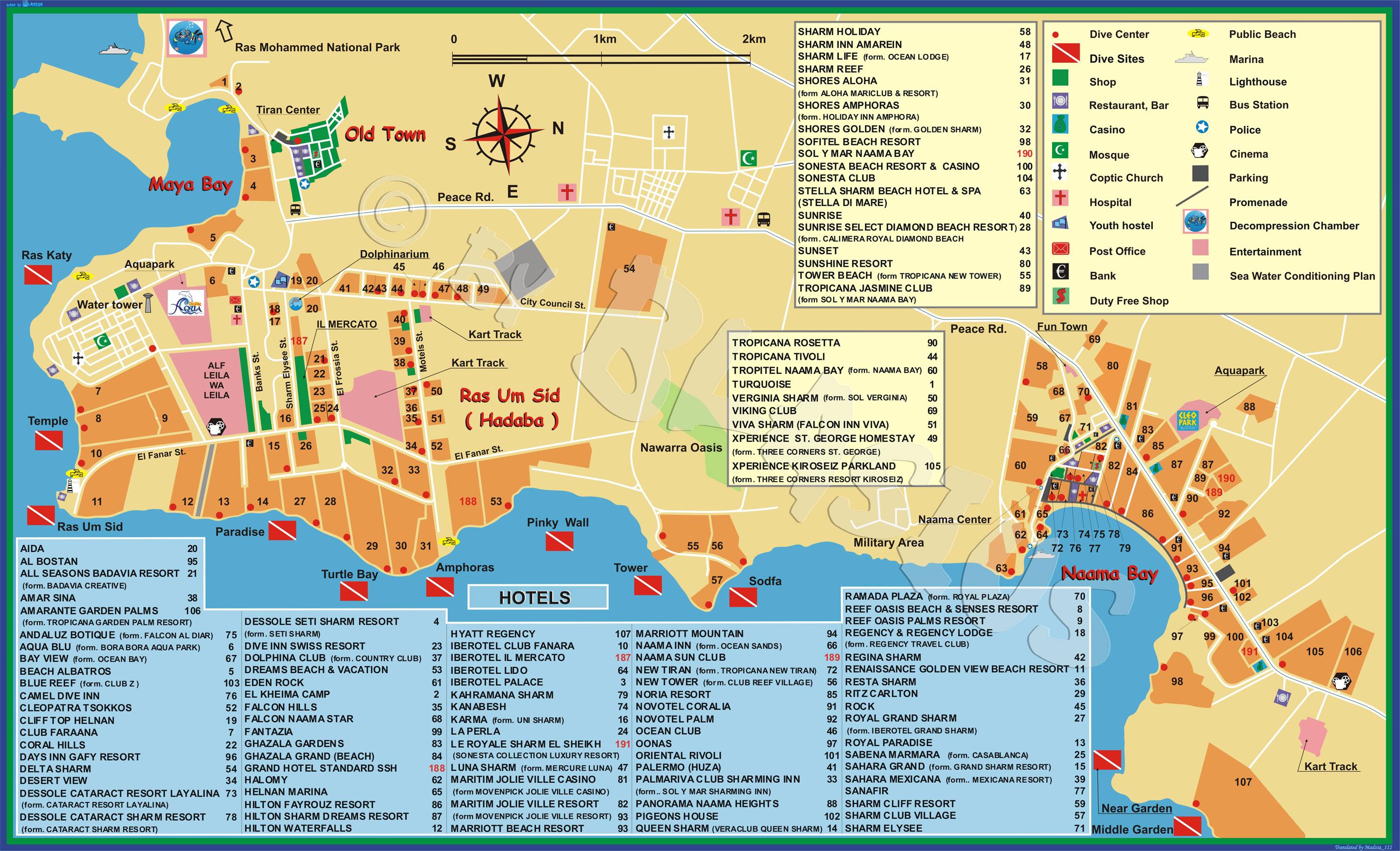 Карта отелей Шарм-эль-Шейха | На отдых!: http://naotdix.com/karta-oteley-sharm-el-sheyha/