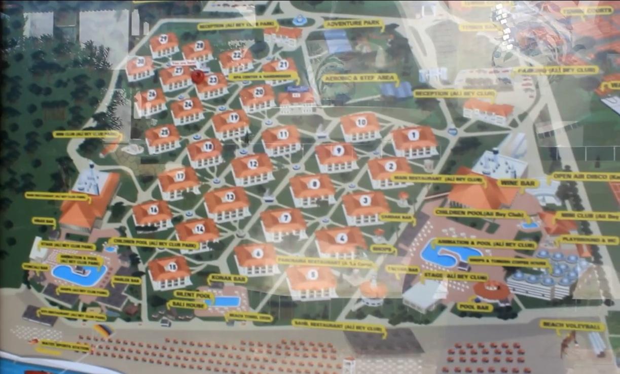 Карта отеля али бей клуб