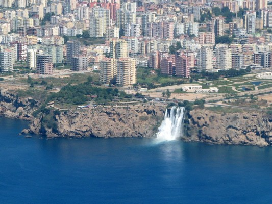 водопад Нижний Дюден - фото с самолета